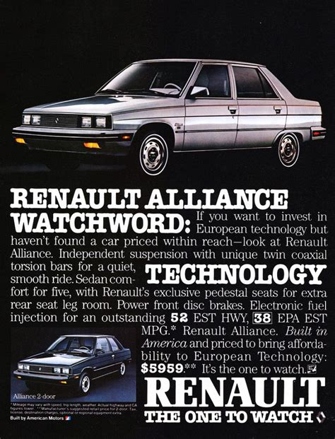 1984 renault alliance renault alliance pictures