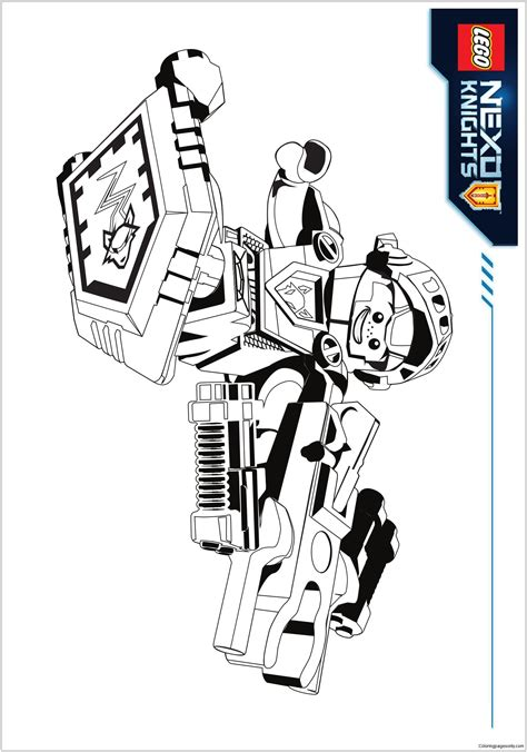 nexo knights coloring pages aaron lego nexo knights aaron coloring page free coloring