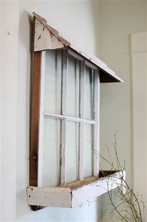 indoor window awnings cute idea to hang an old window then add a wooden awning