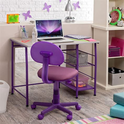 purple desk furniture desks home decosee
