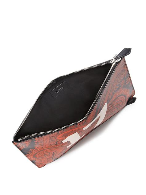 Pouch Givenchy Ori Leather givenchy zip paisley leather pouch in lyst