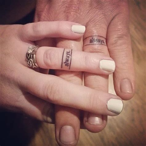 wedding band tattoos for couples 50 cool wedding ring tattoos to express their undying