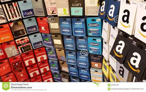 Convert Macy S Gift Card To Amazon - gift cards amazon old navy macys kmart and more editorial stock photo image