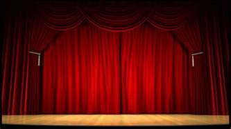 1920s Curtains High Definition Clip Of An Opening Red Stage Curtain