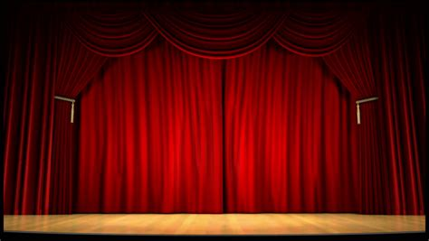 theme definition theatre high definition clip of an opening red stage curtain