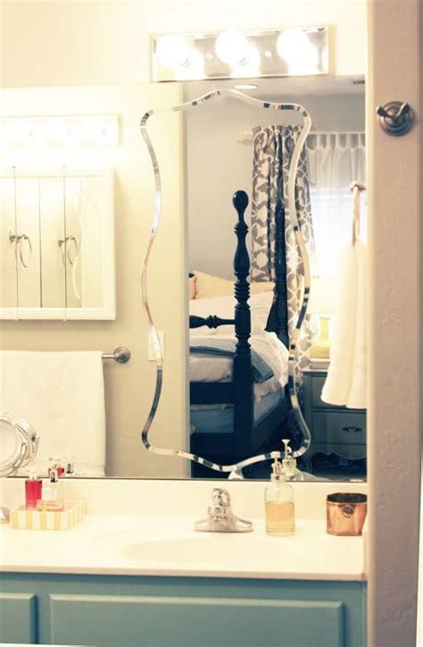 how to hang a frameless bathroom mirror frameless mirrors little green notebook