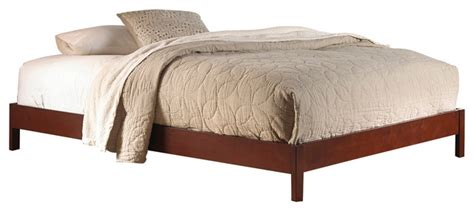 Murray Bed Frame Murray Platform Bed With Wooden Box Frame Mahogany Finish Beds By Fashion Bed