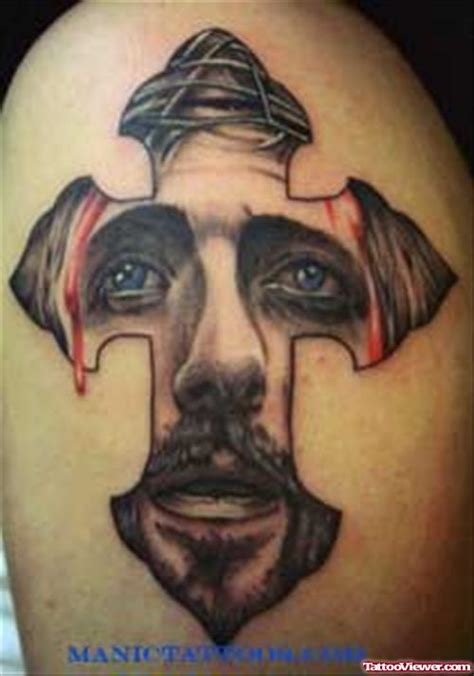 tattoo cross with jesus face in it cross and jesus face tattoo tattoo viewer com