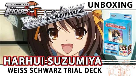 weiss schwarz best trial deck unboxing melancholy of haruhi suzumiya trial deck