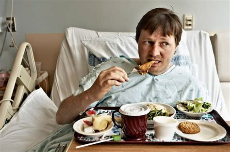 eating in bed hospital patient s grim theory about what s really in