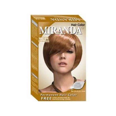 miranda hair color premium golden brown 60ml gogobli