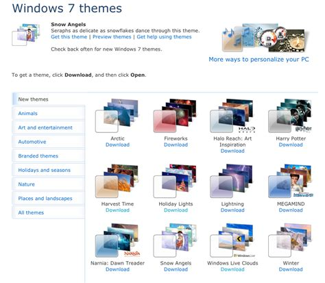themes for windows 7 online windows 7 themes passion technology