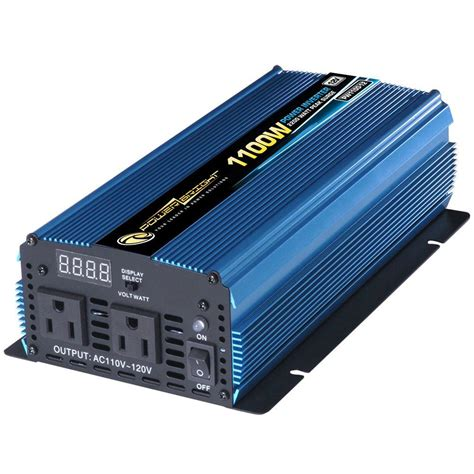 Power Inverter Dc To Ac Merk Mitsuyama With Usb 5v power bright 12 volt dc to ac 1100 watt power inverter pw1100 12 the home depot