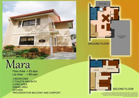 camella homes floor plan philippines mara 53 sqm real estate roxas city philippines