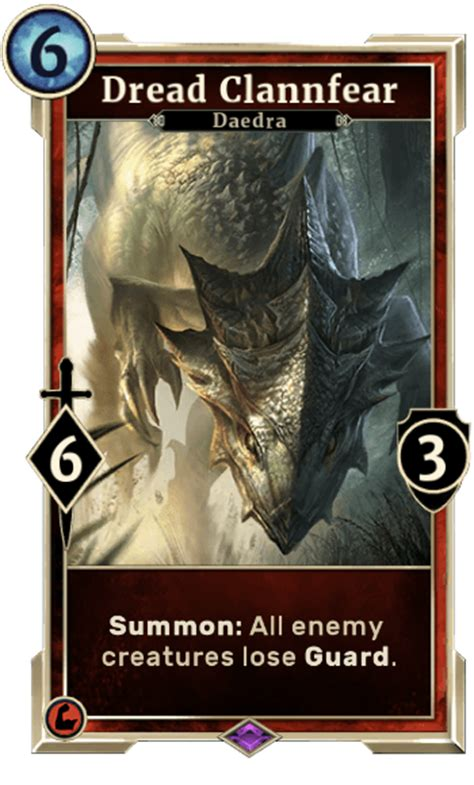 elder scrolls legends card template dread clannfear elder scrolls legends wiki wiki
