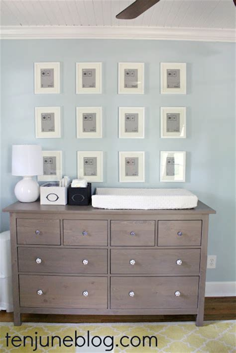 ten june nursery update ikea dresser turned changing table station land of nod gumball ls