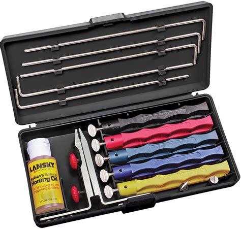 lansky sharpener lansky de luxe knife sharpening system