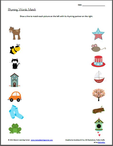 Rhyming Worksheets For Kindergarten by Rhyming Words Worksheets New Calendar Template Site