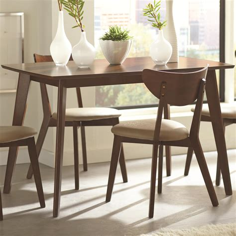 coaster kersey dining table with angled legs dunk