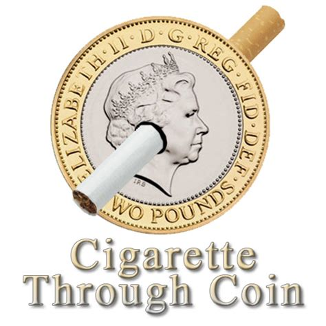 Coin Thru Cigarette cigarette through coin 163 2