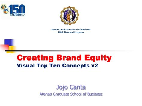 Top Mba Schools For Equity by V47 Ch9 Brand Equity Visual Jojo Canta