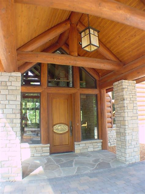 Log Home Front Doors Log Home Front Entrance Log Home