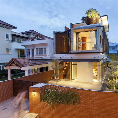 semi detached house designs a semi detached house in singapore connects to its environment idesignarch