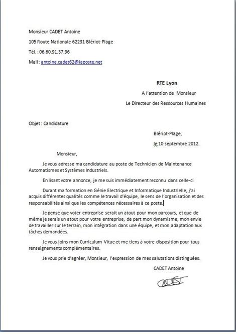 Lettre De Motivation Candidature Spontanée Office De Tourisme Presentation Lettre De Motivation Employment Application