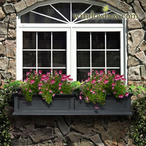 prestige window box black self watering window boxes - Window Boxes