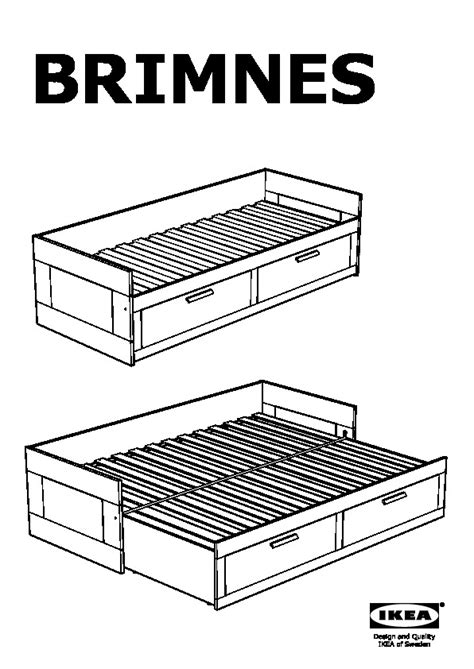 Daybed Frame With Drawers by Brimnes Daybed Frame With 2 Drawers White Minnesund Firm