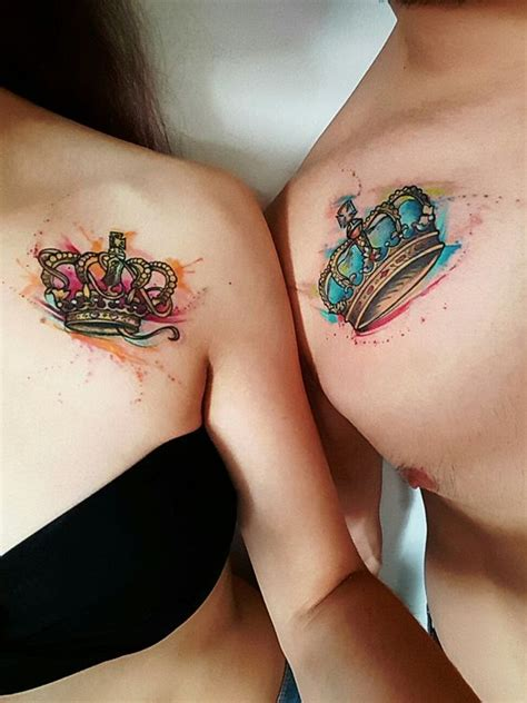 matching crown tattoos for couples 31 crown ideas that fit royalty styleoholic