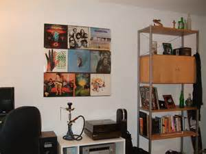 hang up your vinyl records 3 steps