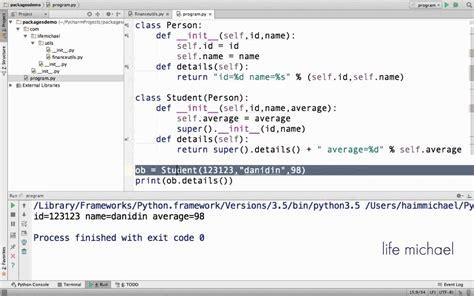 python tutorial class inheritance the super function in python youtube
