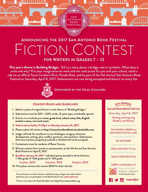 free fiction writing contests View our listing of free writing contests that you can enter 2018 writing contests with daily updates.