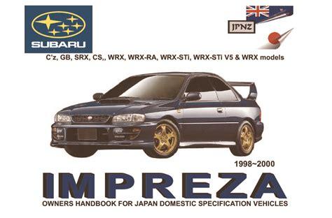hayes auto repair manual 2000 subaru impreza on board diagnostic system subaru impreza owners manual 1998 2000