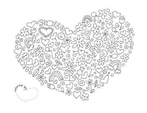 hearts coloring pages pdf heart coloring page pdf girl s bedroom pinterest
