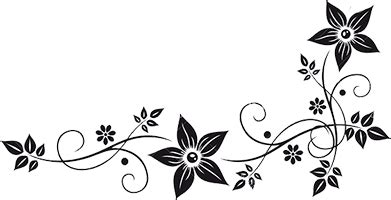 flower border black and white png #41810 free icons and