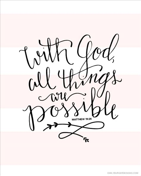 with god all things are possible tattoo with god all things are possible 8 by 10 print