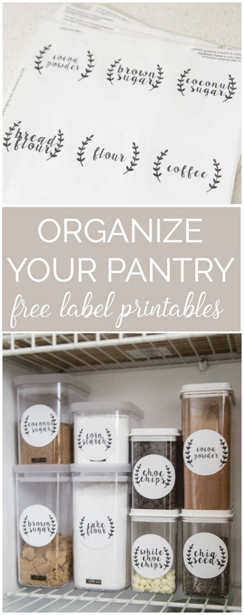 Kitchen Closet Pantry Ideas by Six Steps To Pantry Organization With Free Printable Labels
