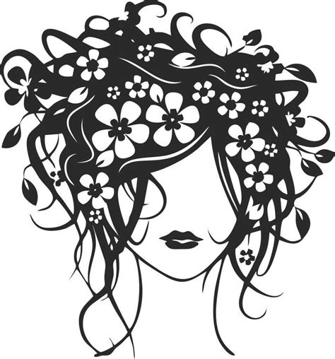 Hairstyle Tools Designs For Silhouette Cameo by With Flowers In Hair Car Hairdresser Class