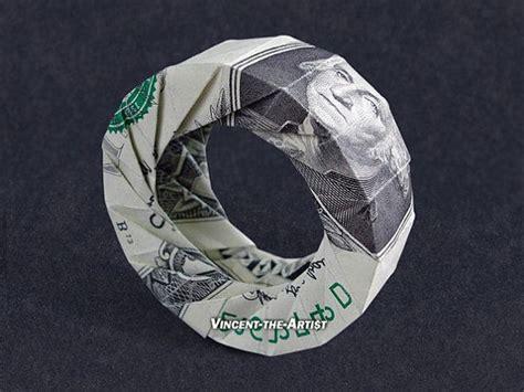 dollar sign origami donut wheel dollar origami money dollar origami