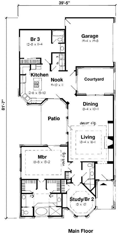 lake house floor plans narrow lot lake house floor plans narrow lot luxamcc