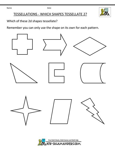 Tessellating Shapes Templates tessellations in geometry 1