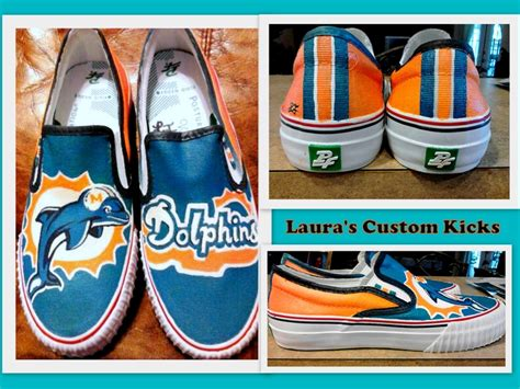 diy custom shoes custom painted miami dolphins shoes diy canvas