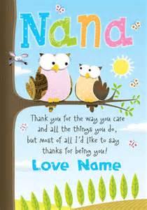 Www funkypigeon com personalised card giggles nana birthday