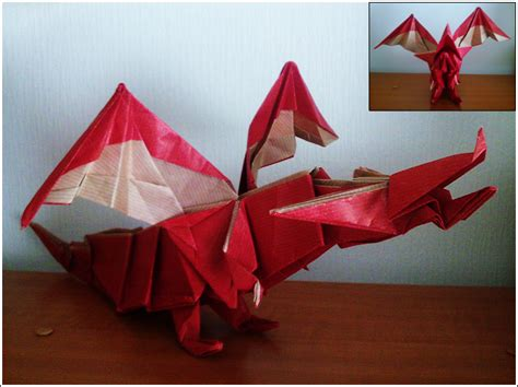 Origami Model - origami model fiery by superkail on deviantart