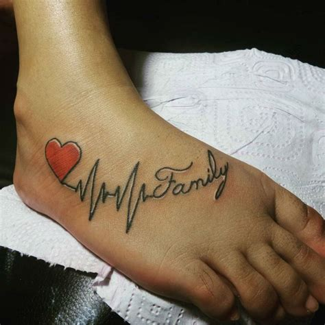 tattoo family on foot 150 attractive heartbeat tattoos designs and ideas stock