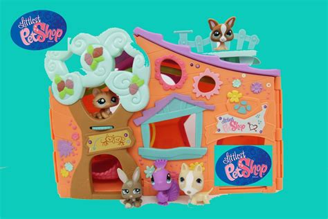 littlest pet shop lps clubhouse club tree house hasbro