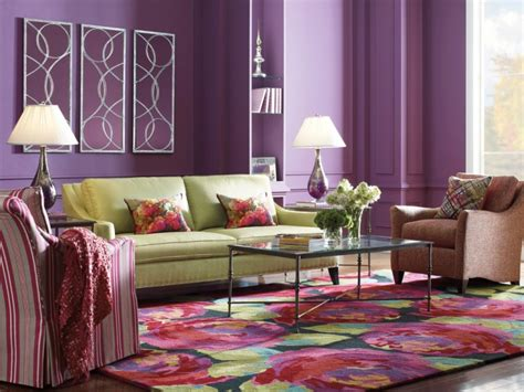 Purple Walls Living Room by 18 Purple Living Room Designs Ideas Design Trends