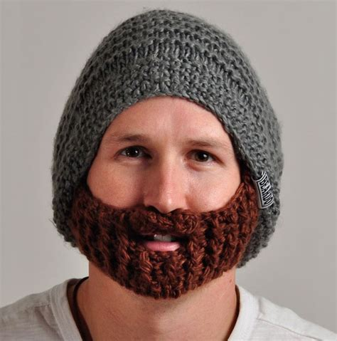 knitted beard hat 25 cool winter hats that will keep you warm bored panda